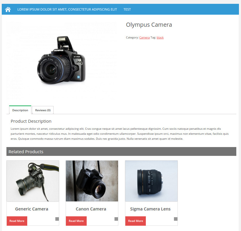 Example of how the WooCommerce related products automatically display
